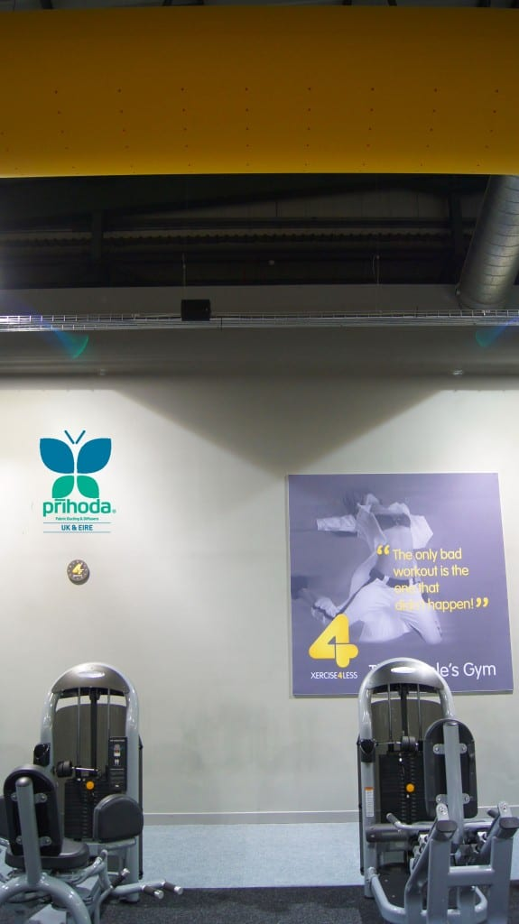 fabric ducting in a gym