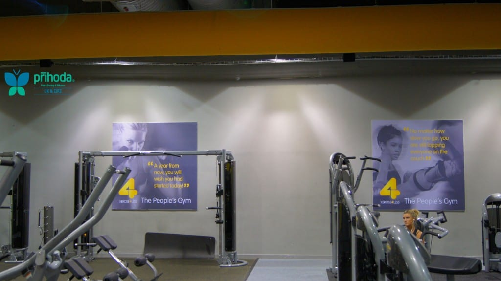 ventilation ducting above gym equipment