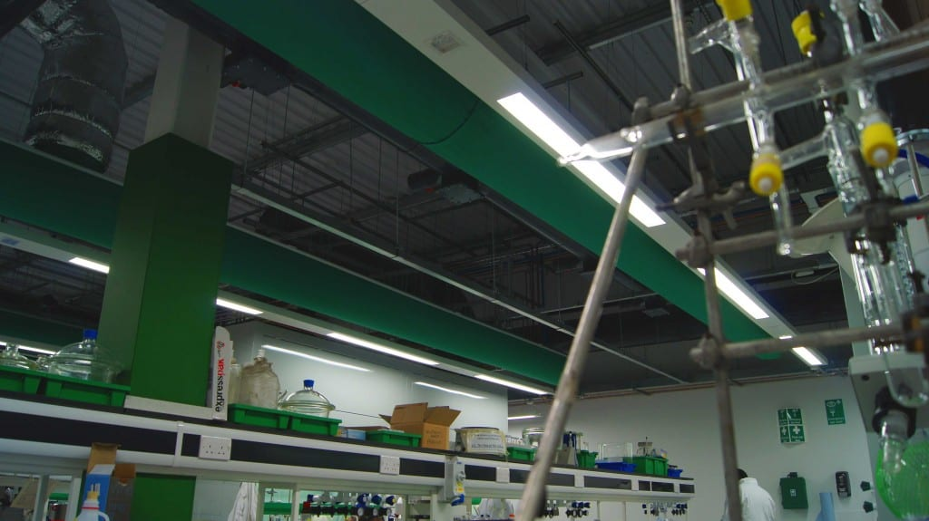 fabric ducting in a university