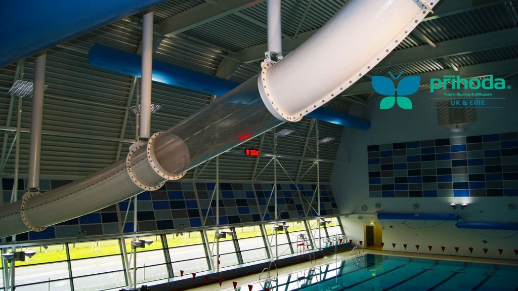 commercial ventilation at indoor swimming pool