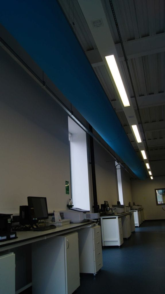 fabric ducting image at office space with computers in university of york