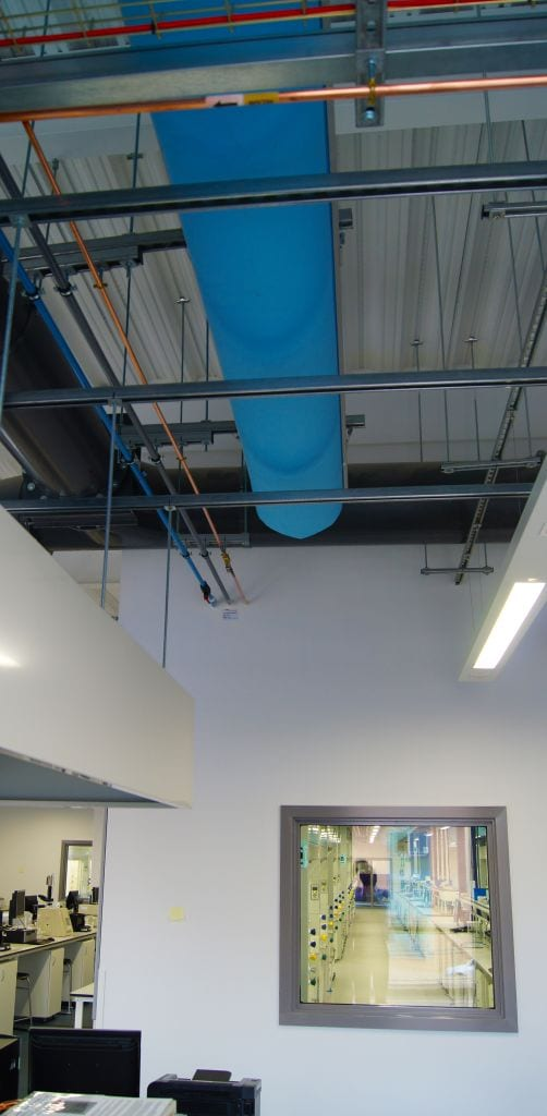 fabric ducting in industrial space at university of york