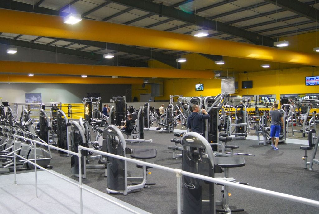 fabric duct systems at gym
