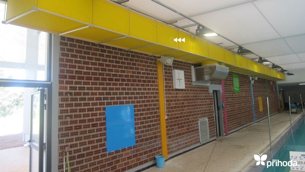 yellow ventilation ducts