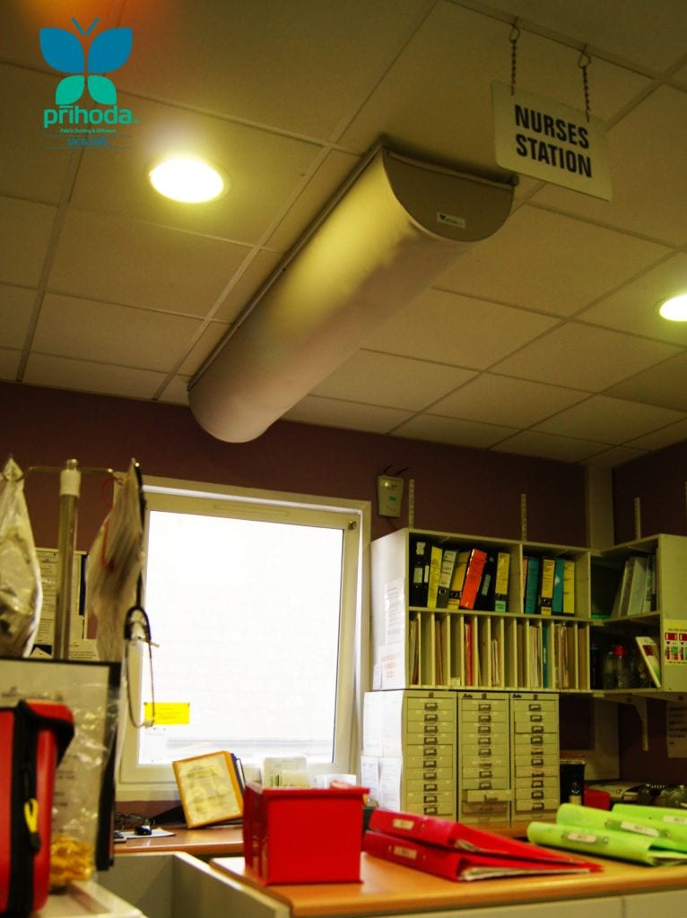 Fabric ducting at Temple Street Children's Hospital