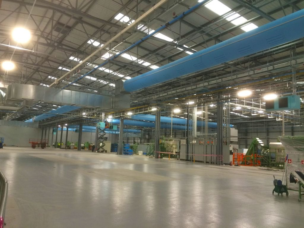 ducting in large warehouse