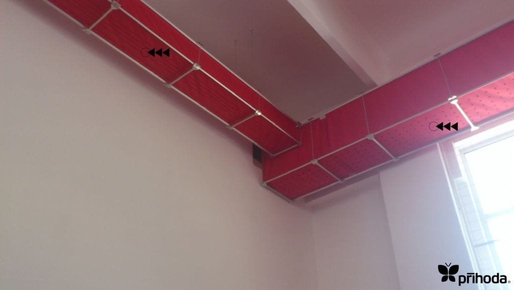 red fabric ducting