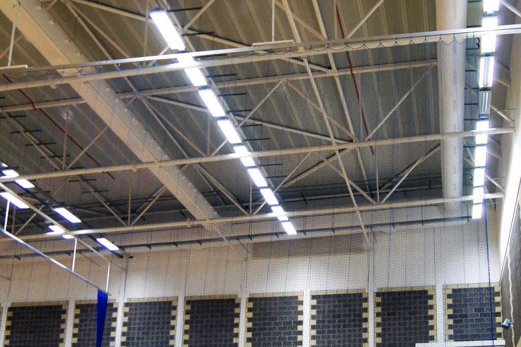 Example of the design approach used in sports hall ventilation.