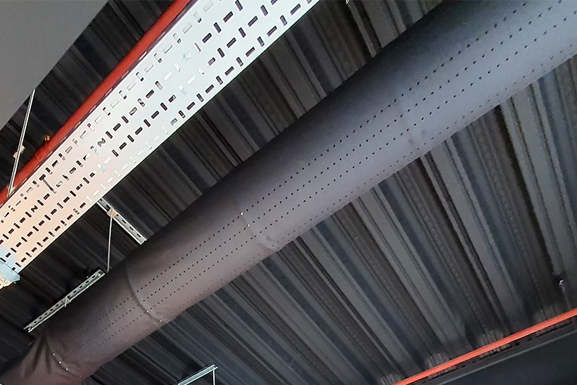 Prihoda fabric duct with laser cut perforations
