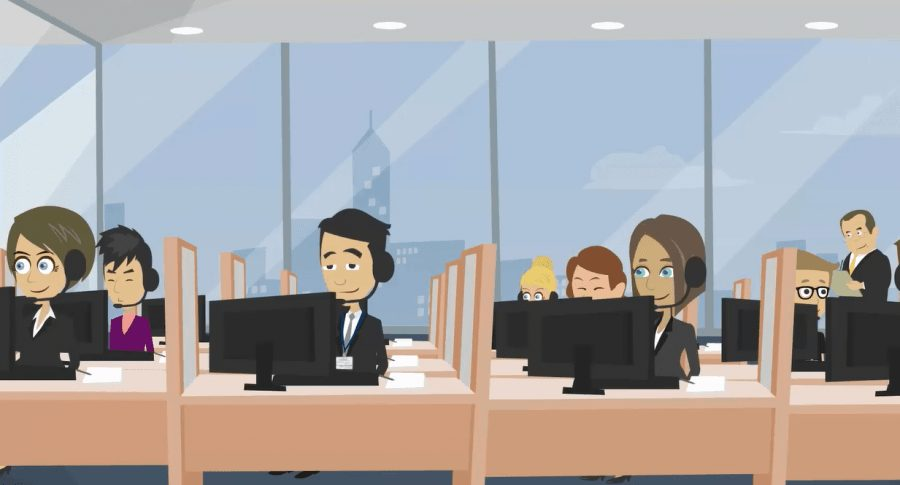 An image of a Service Desk agents